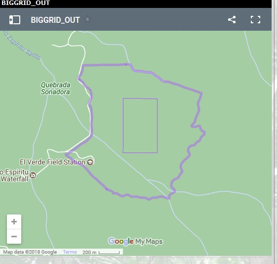 Luquillo Experimental Forest LFDP kml shapefile map   Luquillo LTER
