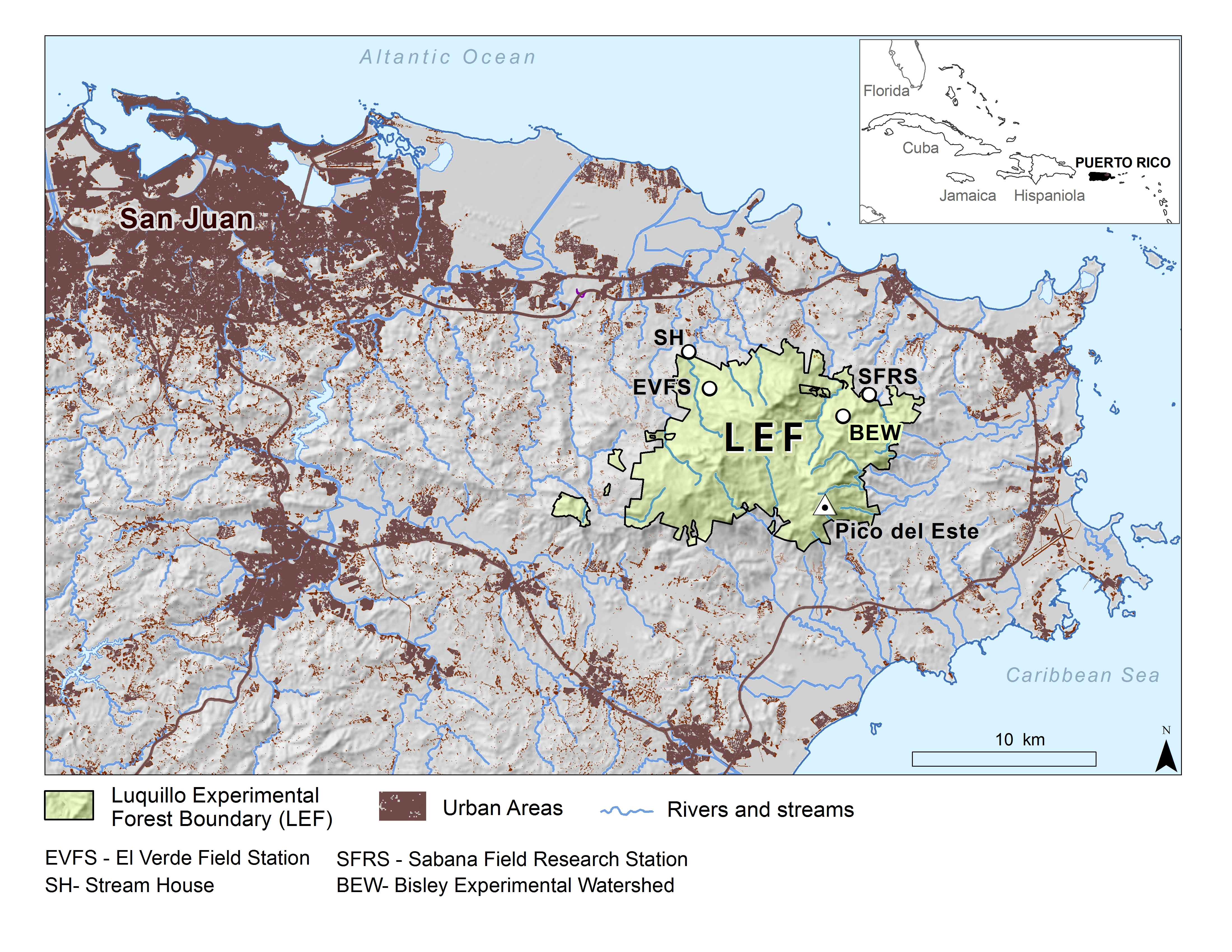 North Eastern Puerto Rico LEF Map