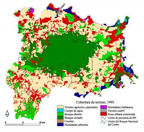1995 LEF land coverage